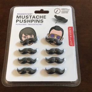 ⭐️ 3 for $15 Magnificent Mustache Pushpins